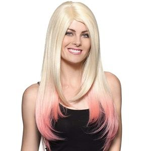 NWT Enigma Amora Wig, Linen / Pink, Ombre One Size